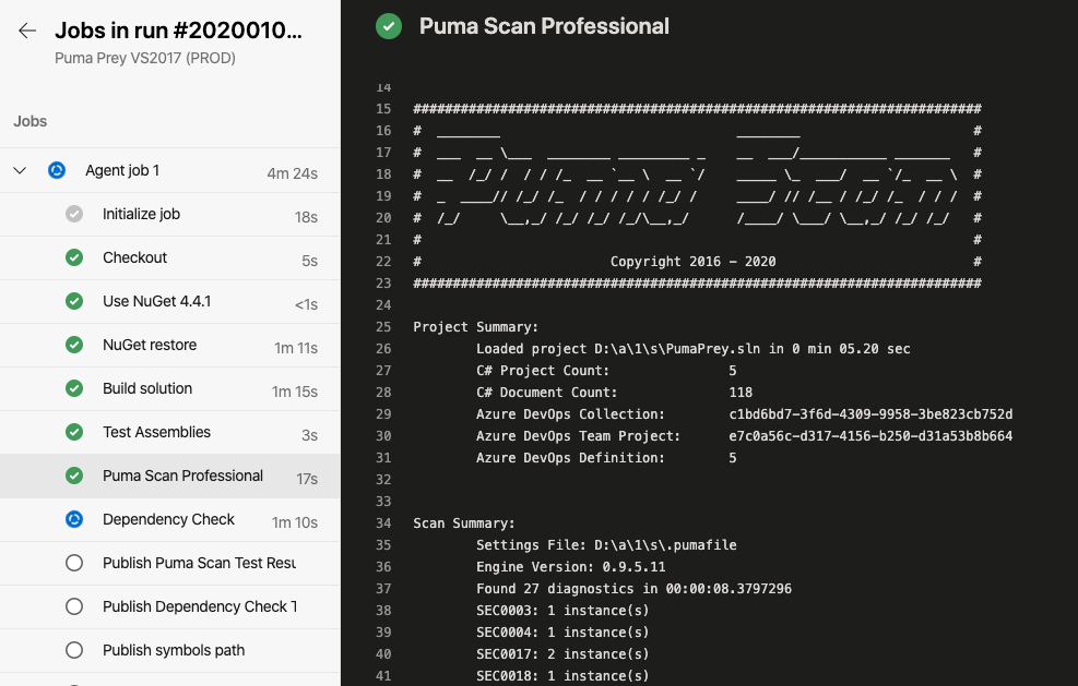 Puma Scan Automated Scanning